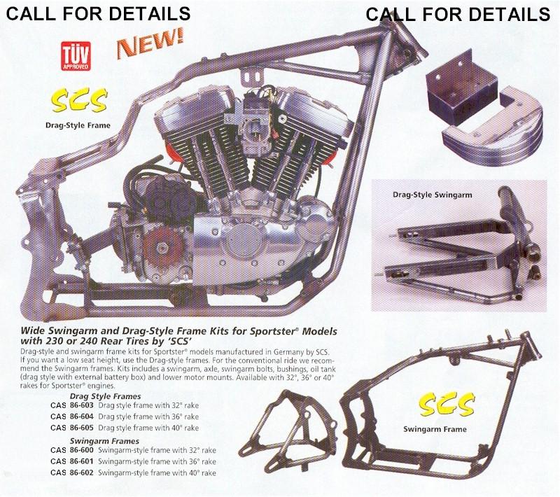 Sportster - Wide Tire Sportster Frame