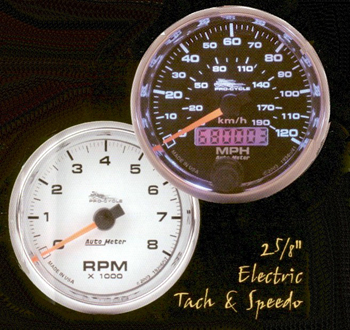 autometer pro cycle mini speedometers and tachometers for harley rh cas4 com Sun Super Tach Wiring Autogage Tach Wiring Diagram